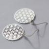 Boucles d'oreilles – Fleur de vie – ARGENT 925