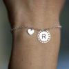 Bracelet MAMAN – Médailles initiales – ARGENT 925