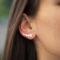 Boucles d'oreilles grimpantes - Étoiles - ARGENT 925