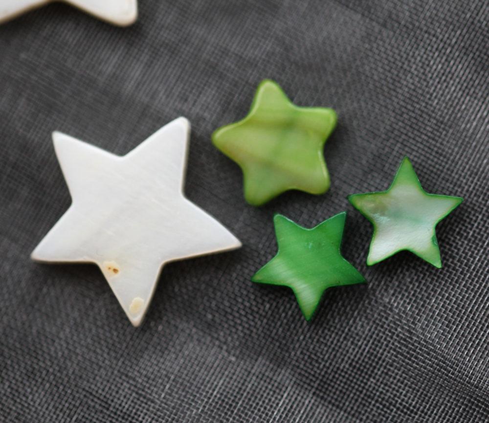 Bracelet BÉBÉ – Étoile verte – ARGENT 925