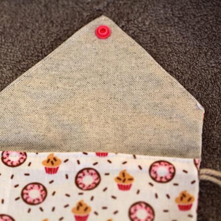 pochette – fait main – cupcake – samebijoux