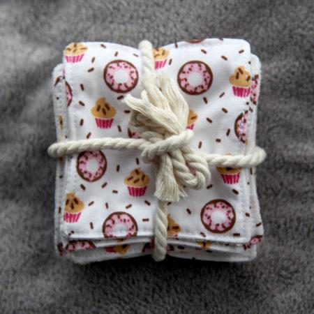 Lingette lavable en bambou – modèle Cupcake