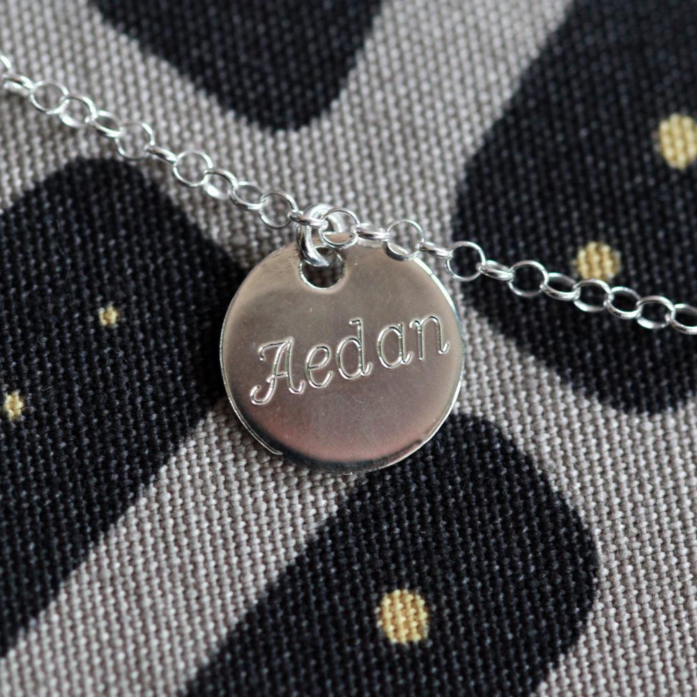 Bracelet MAMAN – Prénoms gravés sur médaillons – ARGENT 925