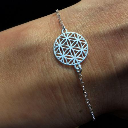 Bracelet femme – Fleur de vie 15 – ARGENT 925