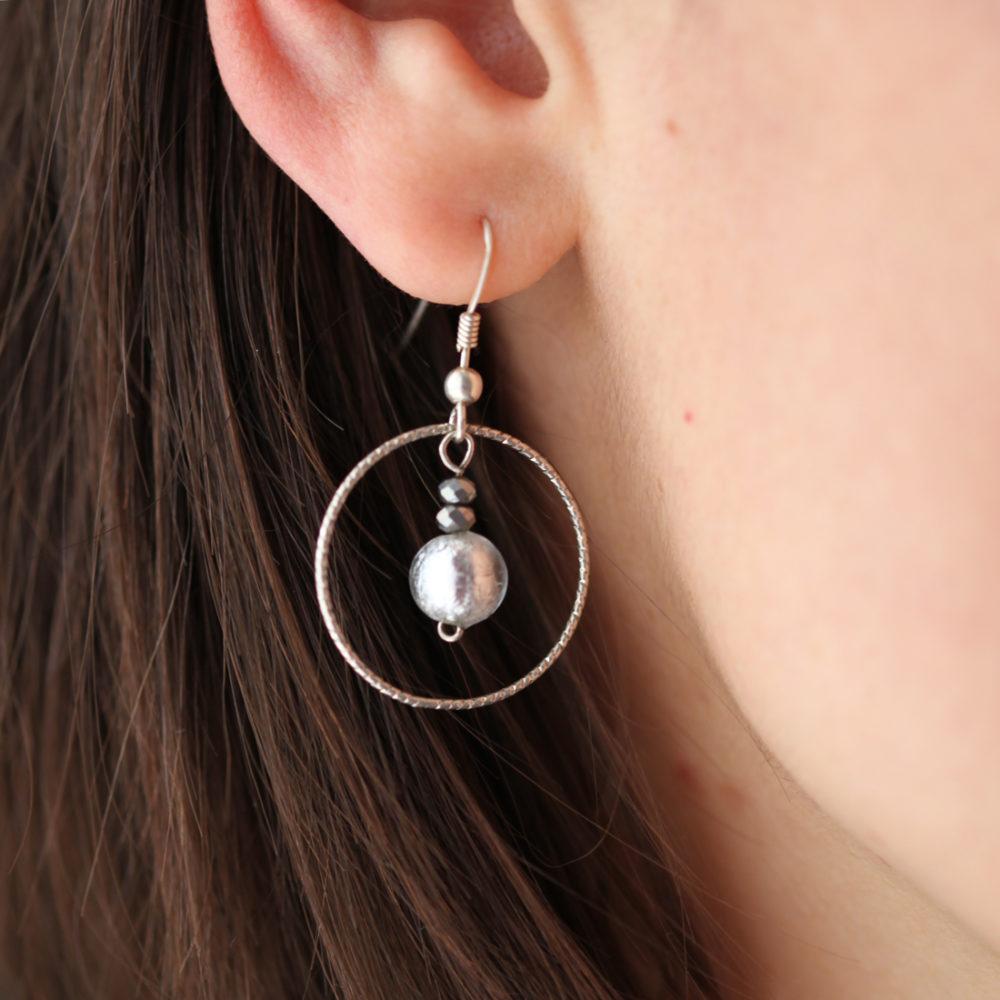 Boucles d'oreilles – Murano Katéa – ARGENT 925