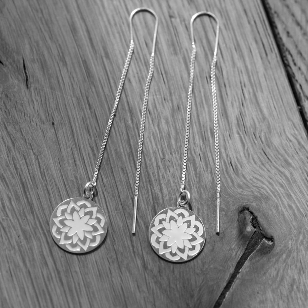 Boucles d'oreilles – Mandala – ARGENT 925