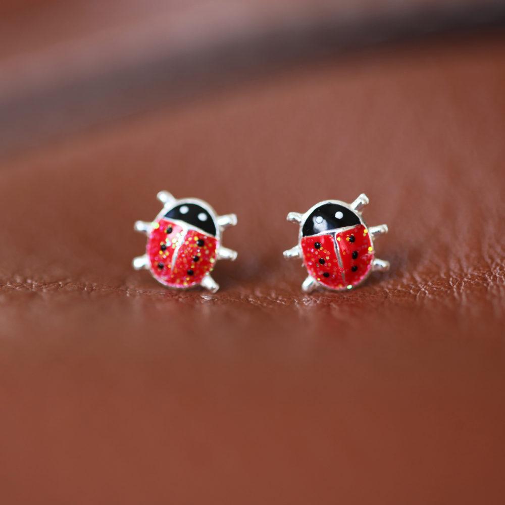 Boucles d'oreilles – Coccinelle – ARGENT 925