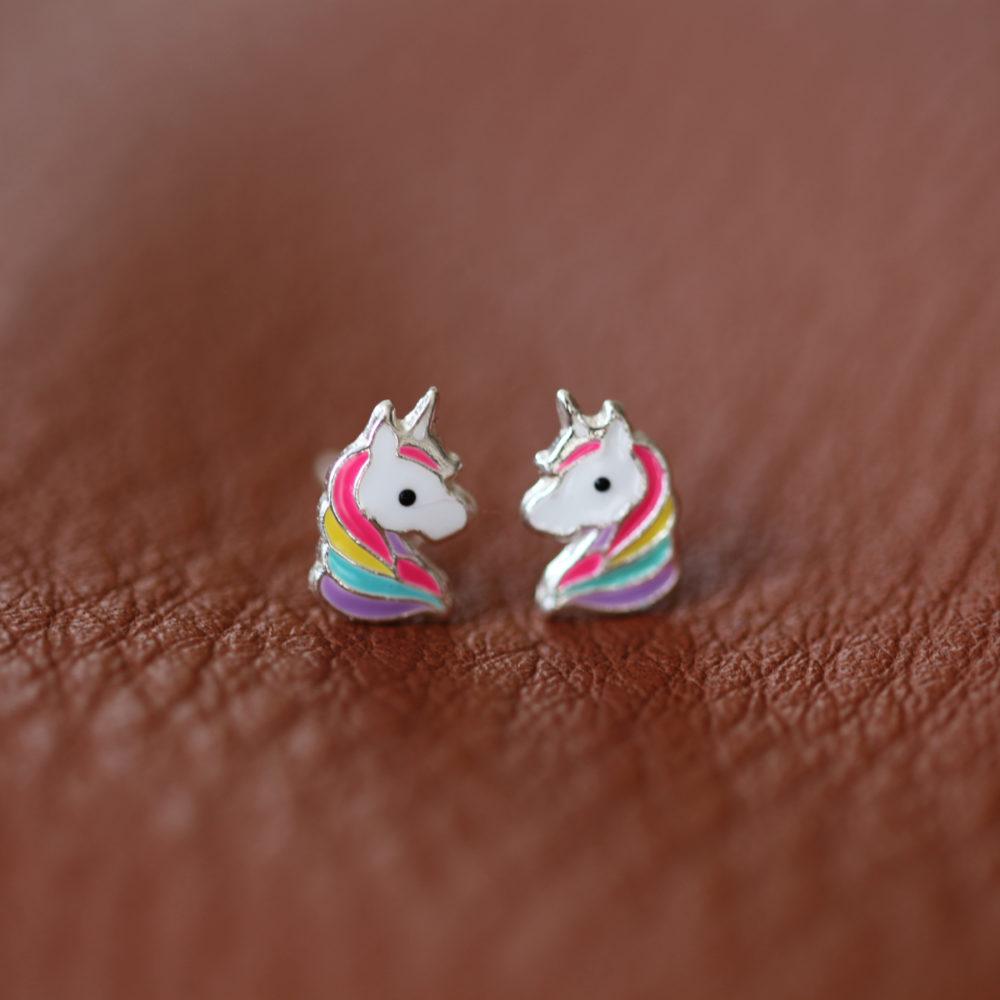 Boucles d'oreilles – Licorne – ARGENT 925