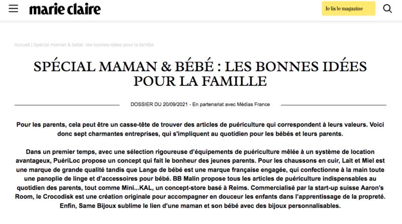 partenariat Marie Claire