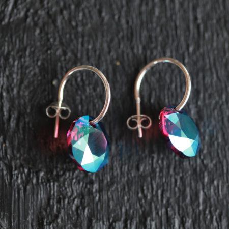 Boucles d'oreilles – Swarovski Amethyst Shimmer – ARGENT 925