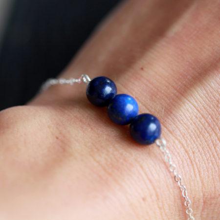 Bracelet – Lapis Lazuli – ARGENT 925