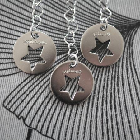 Bracelet MAMAN – Fermoir gravé à étoile – ARGENT 925